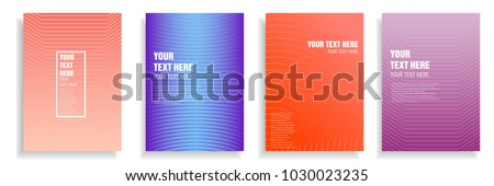modern cover design with dynamic colorful halftone gradient. vector template for magazine, presentation, brochure, poster in a4 size #1030023235