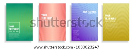 modern cover design with dynamic colorful halftone gradient. vector template for magazine, presentation, brochure, poster in a4 size