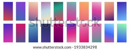 Modern cover template design. Set of trendy colorful gradient vector illustrations. Background for flyer, social media post, screen, mobile app, wallpaper