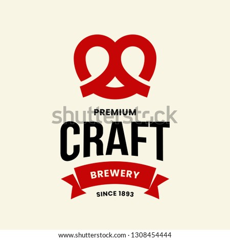 modern craft beer drink vector
