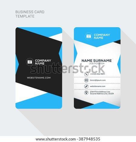 Modern creative and clean two sided business card template for 2 sided business cards templates free