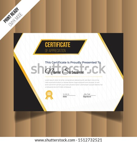 Modern Creative Certificate Of of Appreciation. Certificate Design Template