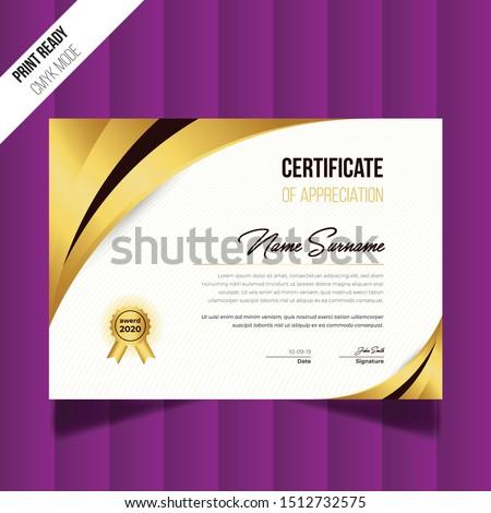 Modern Creative Certificate Of of Appreciation. Certificate Design Template