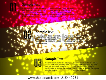 modern creative design text box template for website graphic. Abstract vector background, colorful lights elements.