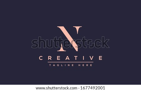 Modern creative N Logo Design and template. NN icon initial Based Monogram and Letters in vector. Stock fotó ©