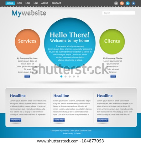 modern creative website template design
