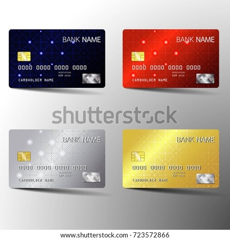 Bank Cards Templates Download Free Vector Art Stock Graphics Images - Blank visa credit card template