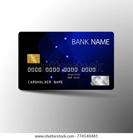 modern credit card template design with inspiration from the abstract vector illustrationglossy