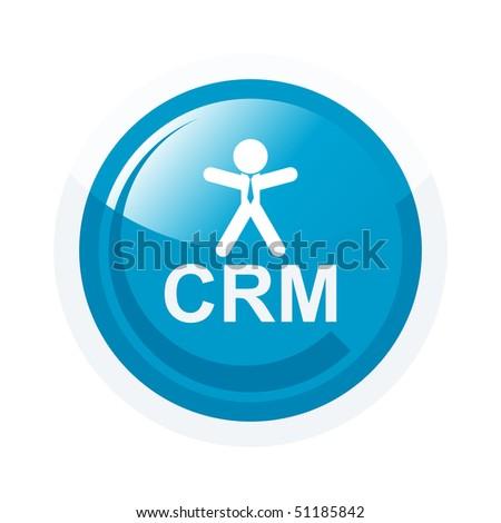Modern Crm Sign Stock Vector Illustration 51185842 ...