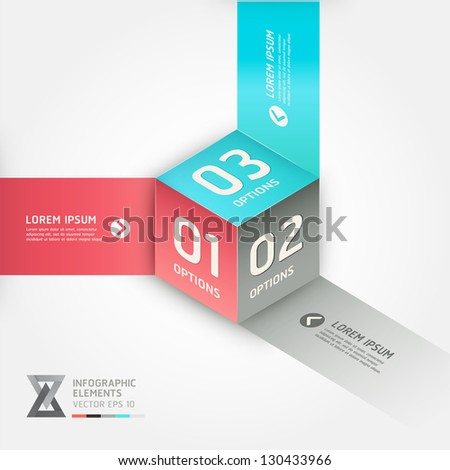 Modern cube origami style options banner. Vector illustration. can be used for workflow layout, diagram, number options, step up options, web design, infographics.