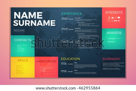Free Curriculum Vitae Vector Design Download Free Vector Art
