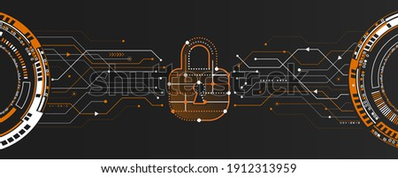 Modern Cyber security for business and internet project. Vector illustration of a data security services. Data protection, privacy, and internet security concept.