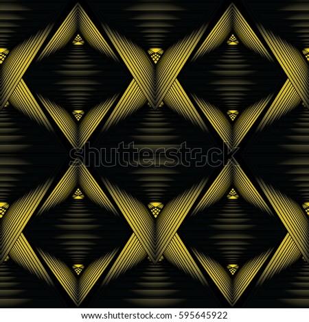 modern 3d geometric seamless