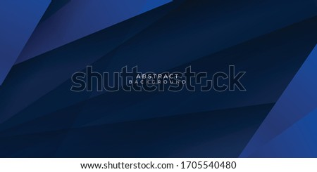 Modern dark blue paper background with dark 3d layered line triangle texture in elegant website or textured paper design