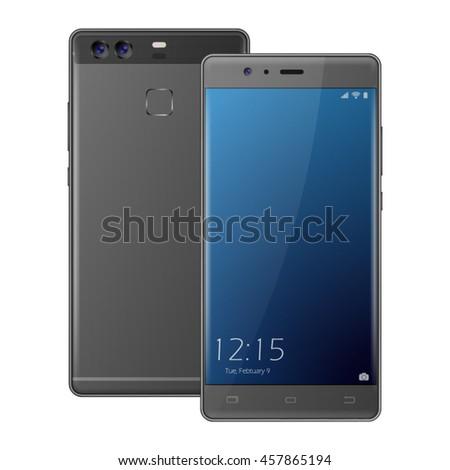 modern dark gray smartphone