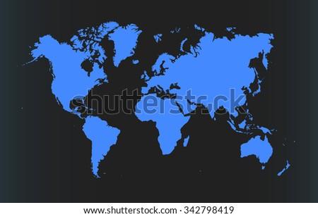 modern dark world map vector