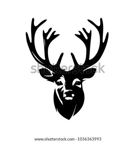 Modern Deer Head Illustration Logo