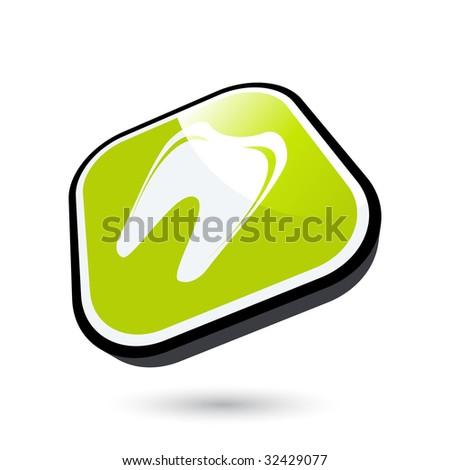 modern dental sign - stock vector
