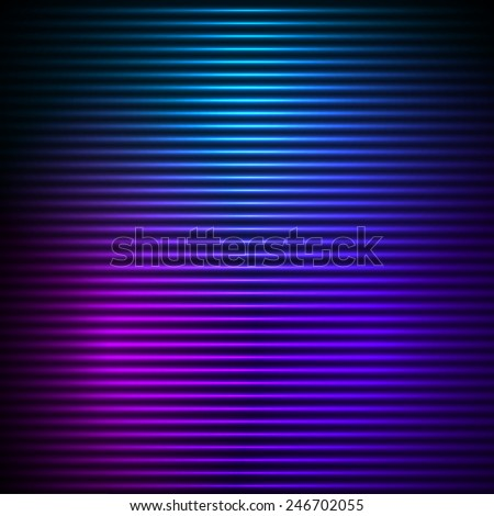 Modern design blue pink abstract background of bright glowing blur horizontal lines. Vector illustration Eps 10. Futuristic  lights style night glow neon disco club or night party
