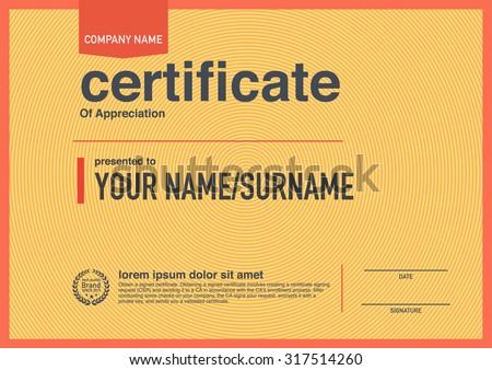 Modern Design Certificate. Stock Vector Illustration 317514260 ...