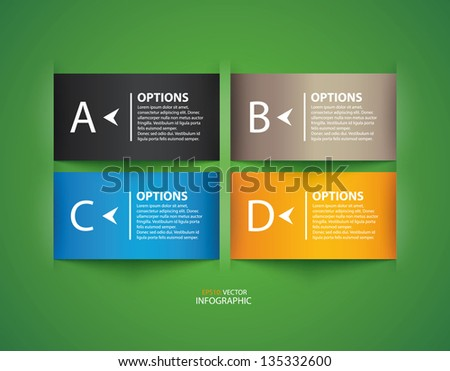 Modern design colorful origami style step up options numbers banner template. Vector illustration