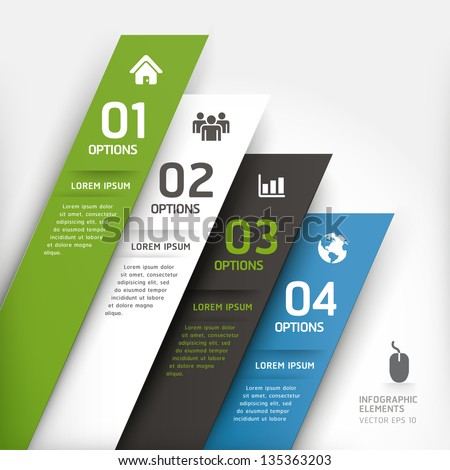 Modern design element template. Vector illustration. can be used for workflow layout, diagram, number options, step up options, web design, infographics.