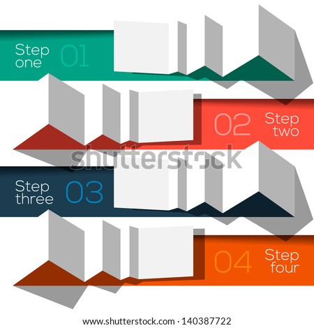 Modern design info graphic template origami styled, vector Eps10 illustration.