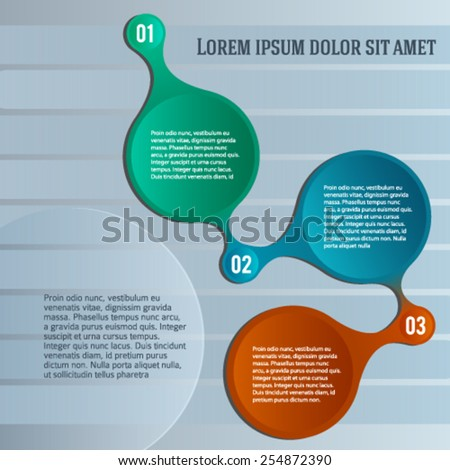 Modern Design Infographic Style Template On Gray Textured ...