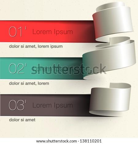 Modern design infographic template, vector illustration.