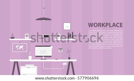 modern design of workplace