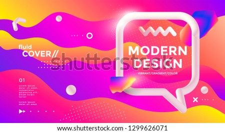 modern design poster with 3d