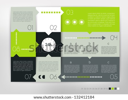 infographic design with bright colors - Download Free Vector Art ...