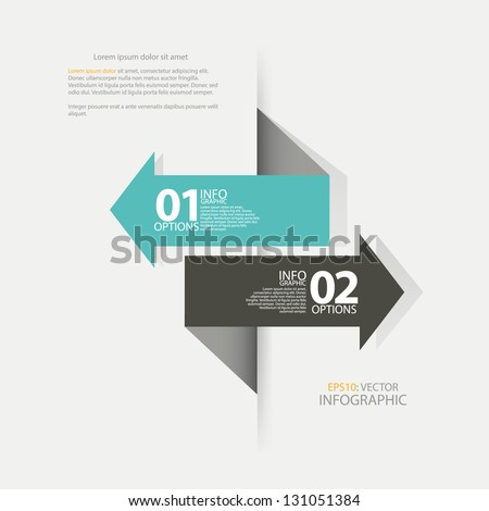 Modern Design template arrow, used for : infographics, numbered banners, horizontal cutout lines, graphic or website layout vector