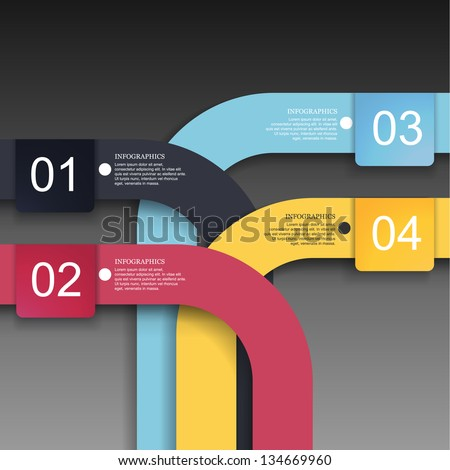 Modern Design template ( can be used for infographics ) - stock vector