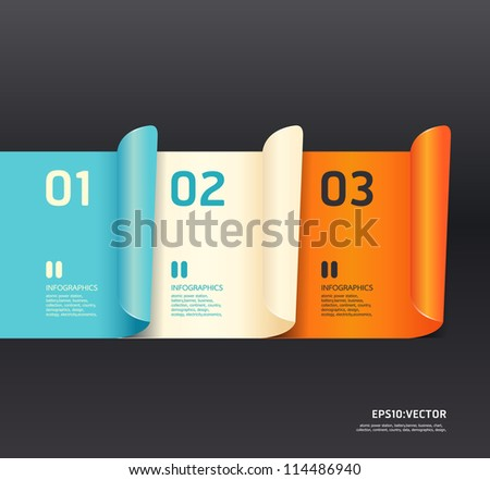 Modern  Design template  / can be used for infographics / numbered banners / horizontal cutout lines / graphic or website layout vector/Horizontal - stock vector