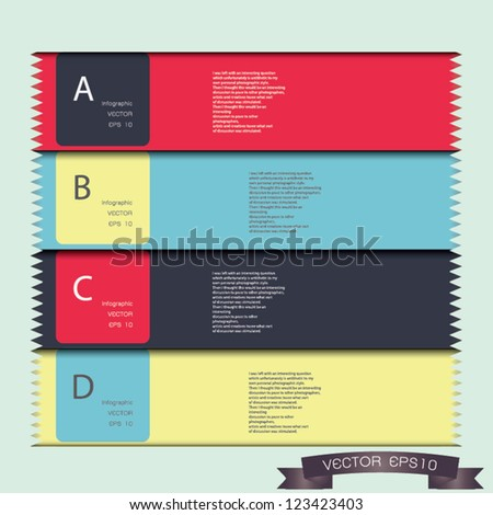 Modern Design template / can be used for infographics / numbered banners / horizontal cutout lines / graphic or website layout vector/Horizontal