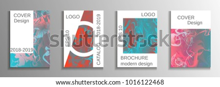 Modern design template. Creative fluid backgrounds from current forms to design a fashionable abstract cover, banner, poster, booklet. Vector illustration. EPS 10. #1016122468