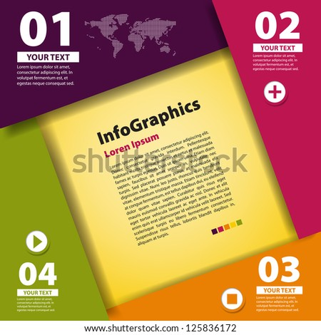 Modern Design template for infographic