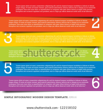 Modern Design template for infographics numbered banners graphic or website layout vector