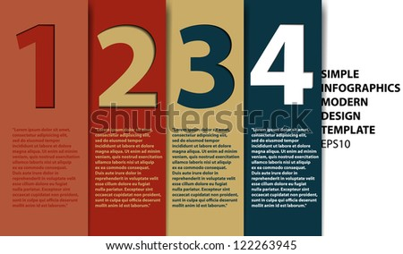 Modern Design template for infographics numbered banners graphic or website layout vector - stock vector