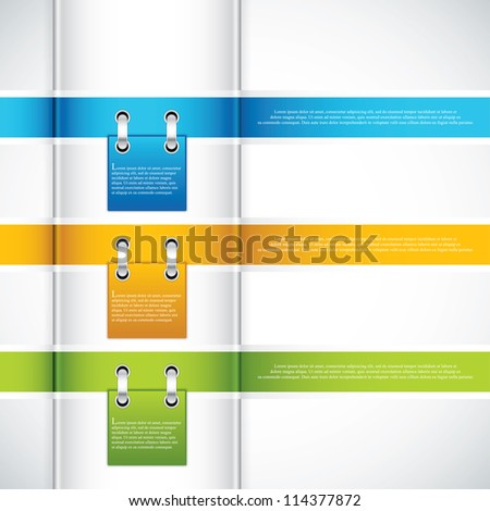 Modern Design template.Ribbon vector