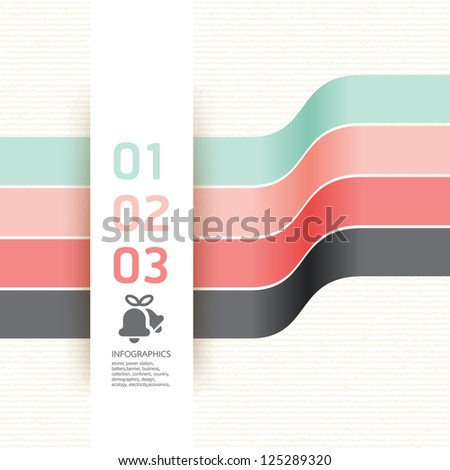 Modern Design template soft colour / can be used for infographics / numbered banners / horizontal cutout lines / graphic or website layout vector