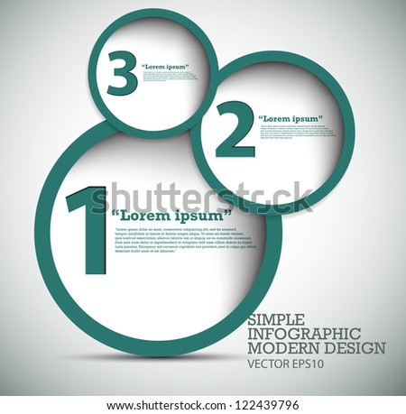 Modern Design template used for infographics numbered banners graphic or website layout vector