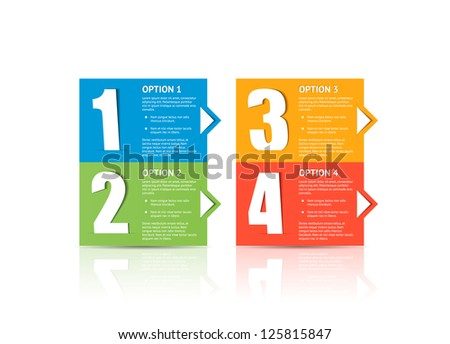 Modern design template with arrow / infographics / graphic or website layout vector / numbered banners
