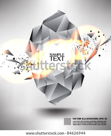 modern diamond burst design