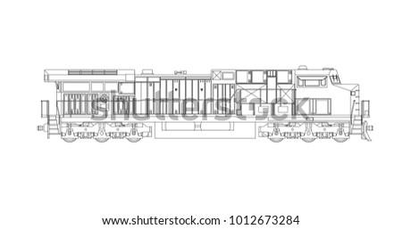 modern diesel railway...