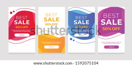 Modern Dynamic fluid mobile for sale banners. Sale banner template design, sale special offer s