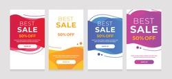 Modern Dynamic fluid mobile for sale banners. Sale banner template design, sale special offer set