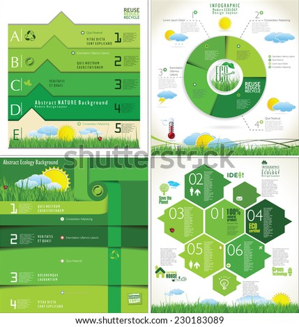 Modern ecology infographic Design Layout