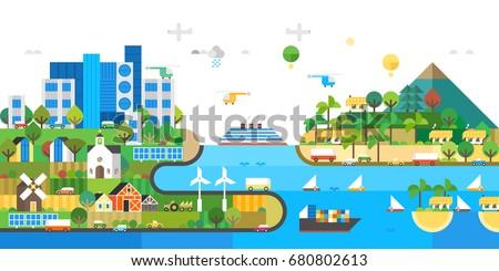 modern ecosystem vacation at